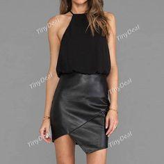 Casual Purezza senza spalline mini vestiti senza maniche per le donne della ragaz http://www.tinydeal.com/it/casual-purity-sexy-strapless-mini-sleeveless-dresses-for-women-p-135877.html