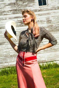 Prairie Rose Skirt - Coral - Western Cowgirl Pinup Vintage Swing Skirt
