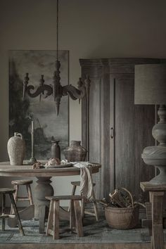 Rustic shades of grey Earthy Decor, Rustic Decor, Deco Champetre, Interior Decorating, Interior Design, Home And Deco, Rustic Industrial, Rustic Interiors, Rustic Style