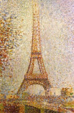 Eiffel Tower by Seurat Canvas Print