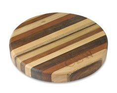 Australian Round Cutting Board... made from five of Australia's iconic woods - Tasmanian Blackwood, Celery Top, Myrtle, Sassafras, and Tasmanian Oak