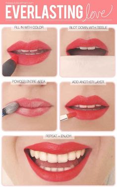 Layer for longevity. thebeautydepartment.com The same concept that gets your lipstick to stay put can be applied elsewhere. Layer different types of blush for an all-day glow. Put a cream blush on over your foundation, set it with translucent powder, and then lightly dust powder blush over top.