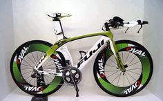 Fuji Racing Bike ........ This bike looks cool! It will look cooler and safer if it has wheel lights. Check out our bike wheel lights at www.activ-life.com.activ-lites