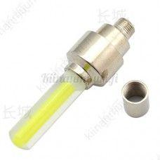 Polkupyörän LED-venttiilivalo, keltainen