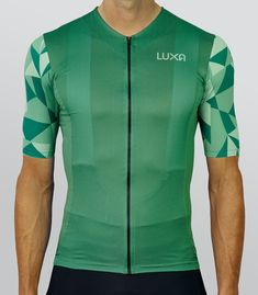 Forest Camo cycling jersey is a reference to military camouflage and green colors of the forest.