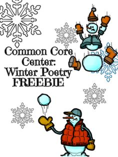 """This high interest winter poetry center is aligned to CCSS with theme and author's perspective. Text based questions accompany a poem entitled """"A Winter Eden"""" by Robert Frost. Great for ELA centers or small group instruction! Check out other great poetry centers!Spring Poetry CenterPoetry Common Core CenterWinter Comparative Poetry CenterWinter Poetry CenterTeaching Theme Poster FREEBIEVisit my store for more creations!Be sure to download my Freebie Self-Assessment Center to accompany this…"""