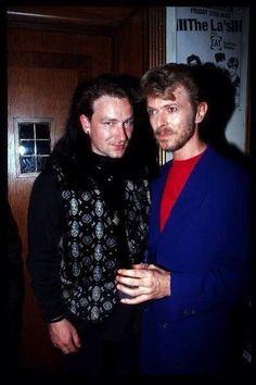 Bono and David Bowie circa mid 80's