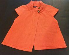JOSEPHINE Orange Open Cardigan Women Size Large Cotton Knit Short Sleeve EUC | Clothing, Shoes & Accessories, Women's Clothing, Sweaters | eBay!
