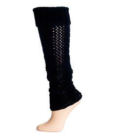 Look at this #zulilyfind! Black Sailor Rope Leg Warmers - Women by Lemon Legwear #zulilyfinds