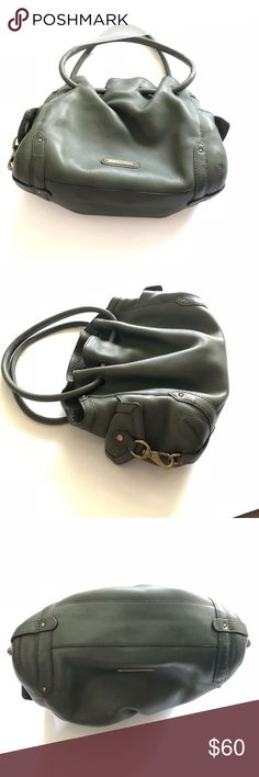 Cole Haan Hunter Green Leather Purse This great everyday  purse.  - Clean inside and out with no rips or tears - Spacious interior with lots of pockets  - Gold hardware Cole Haan Bags