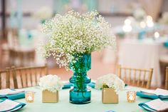 mint wedding.  mint and gold. ombre wedding