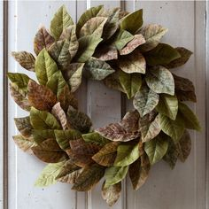 Magnolia Wreath | Fabric Magnolia Wreath | Magnolia Leaf Wreath | Door Wreaths