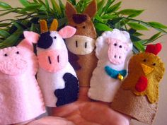 Bauernhof Tiere Finger fühlte sich Puppen von FamilyCraft45 auf Etsy