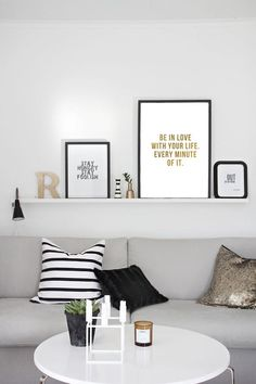 Printable quote poster Be in love with your life by PimpYourWall
