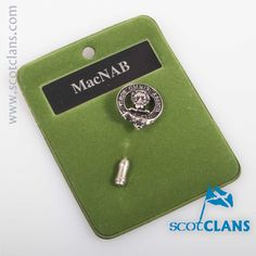 MacNab Clan Crest Tie Pin. worldwide shipping available.