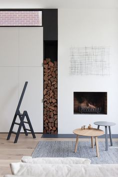 Fire Place Detail - Made By Cohen and Robson Rak Architects