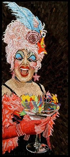 Heroes with Bling: SF Drag Queens Immortalized in Mosaic by Michael Kruzich | Mosaic Art NOW