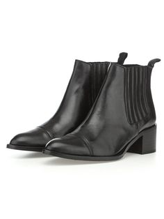 ANKLE BOOTS, Black, 39