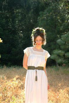 Size Medium... Antique Cotton Maxi Dress... by AstralBoutique, $48.00
