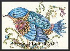 Bird - Zentangle - Doodles (By Norma Burnell 2012)