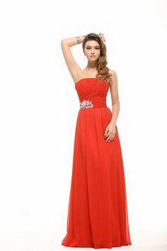 Red Chiffon Strapless Homecoming Dresses - Order Link: http://www.theweddingdresses.com/red-chiffon-strapless-homecoming-dresses-twdn2467.html - Embellishments: Draped , Beading; Length: Floor Length; Fabric: Chiffon; Waist: Natural - Price: 148.47USD