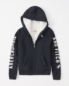 kids sherpa-lined hoodie Sherpa Lined Hoodie, All American Clothing, 5 Kids, Abercrombie Kids, Hooded Jacket, Hoodies, Tees, Casual, Skirts