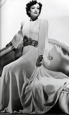 "Joan Crawford in an unused Adrian gown for ""The Women"", 1939 