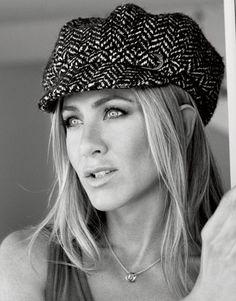 Jennifer Aniston: The Barbra Streisand Cover Shoot for Harper's Bazaar, wearing a newsboy hat by Eugenia Kim
