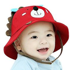 f2796d3efae IMLECK Little Lion Baby Sun Hat Outdoors with Chin Strap Breathable 50+ UPF  2018