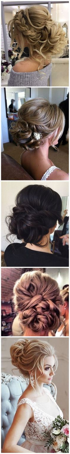Wedding Hairstyles » Come and See why You Can't Miss These 30 Wedding Updos for Long Hair (curly messy updo)