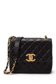 Vintage Chanel Lambskin Quilted Shoulder Bag by LXR   http://www.stylenfashion.net/women/vintage-hermes-gucci-more