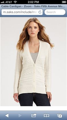 Love this cardigan from SAX FITH AVENUE!