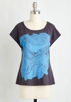 You Can Baleen on Me Tee. Looking for a reliably cool printed T-shirt that guarantees a good maritime? #black #modcloth