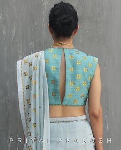 We have come up with 30 new Pattu saree blouse designs that will revamp your look. These Pattu saree blouse designs have a perfect fit and are Pattu Saree Blouse Designs, Saree Blouse Patterns, Blouse Back Neck Designs, New Blouse Designs, Dress Designs, Stylish Blouse Design, Beautiful Blouses, Fashion Moda, Indian Designer Wear