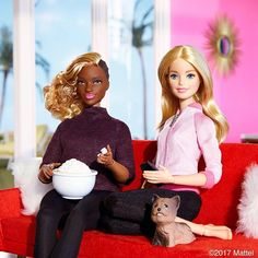 Pass the popcorn, it's movie night in!  #barbie #barbiestyle