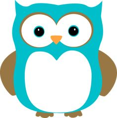 Blue and Brown Owl Clip Art - Blue and Brown Owl Image