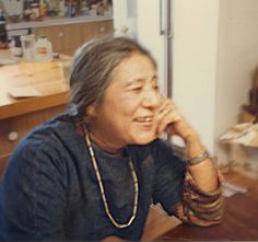 An informal photo of Toshiko in her kitchen. Quakertown N.J. Photo:Mark Fishstein