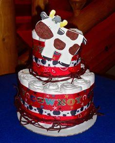 Western Baby Cakes Western Cowboy 2 Tier Diaper Cake Baby Shower By Bettycakesbakery Diy Baby