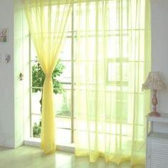 Multicolor 2 Pcs. Sheer Voile Window Panel curtains DRAPE 200cm x 100cm NVIE