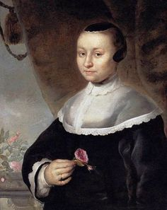 Jacob Willemsz Delff (II) - Young Woman with a Rose - WGA06286.jpg