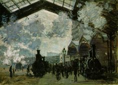 Monet, Saint-Lazare Station.  National Gallery, London (Had the pleasure of seeing this in person.)