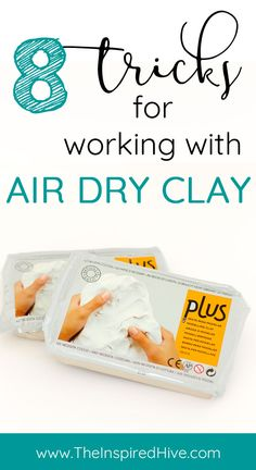 8 great tips and tricks for air dry clay projects. Read these ideas before your next clay craft! 8 great tips and tricks for air dry clay projects. Read these ideas before your next clay craft! Crayola Air Dry Clay, Diy Air Dry Clay, Air Dry Clay Crafts, Air Drying Clay, Felt Crafts, Clay Projects For Kids, Clay Crafts For Kids, Air Dry Clay Ideas For Kids, Air Dried Clay Projects