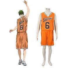 801d4f435 Deluxe Kuroko no Basket Midorima Shintaro3RD Shutoku Orange No.6 Cosplay  Basketball Costume