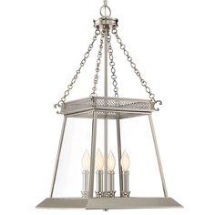 Classic Lantern Design Foyer Light - Large polished_nickel
