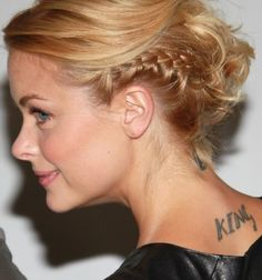Messy side braid hairstyles for short hair