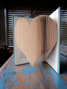 heart book sculpture