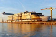 SYMPHONY OF THE SEAS Symphony Of The Seas, Ship Tracker, Royal Caribbean International, Cruise Ships, Oasis, Construction, France, Building, Travel