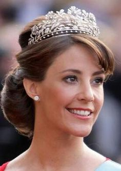 Princess Marie of Denmark. Love her crown!
