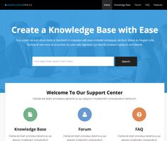 Knowledge Base -  Perfect solution for any product or service support, fast and easy to set up. Clean and intuitive responsive design with lot of features including live search, faq posts, contact form, custom widgets, shortcodes.      Frontend   ... - http://clonicle.com/knowledge-base/