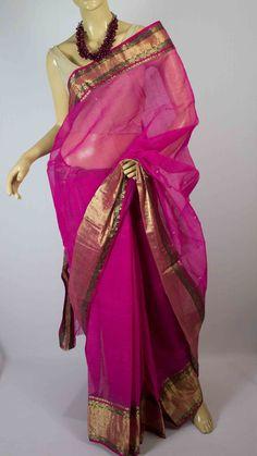 #Handwoven  #chanderi #saree #India #crafts #weaving